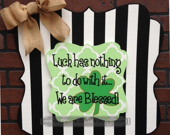 SWITCHABLE SPARKLE: St. Patrick's Day Sign