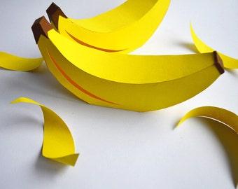 DIY Paper Banana Ornament/Decoration/Gift