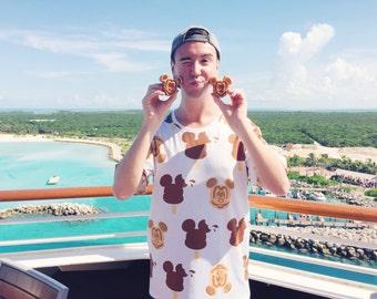 Disney Food t-shirt inspired by the tastiest treats in the kingdom... Mickey Waffles and Mickey Bar Ice Cream!