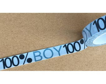 Washi tape (washi) - 100% boy boy