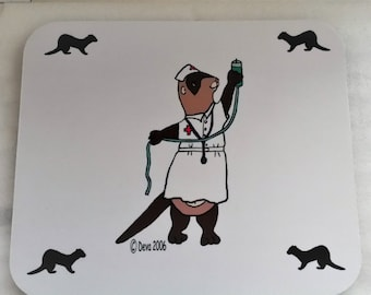 Nurse Ferret Mousepad