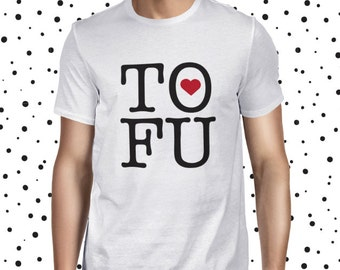 Tofu Shirt for Men - Vegan Tofu Love Shirt - Men's Vegetarian T Shirt - Plant-based T-shirt - Statement Vegan Tee - NY Love Tofu Tee Shirt