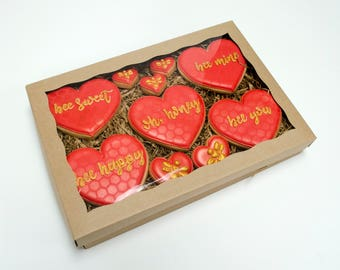 Decorated Cookies - Oh, Honey - Bee Mine Gift Box