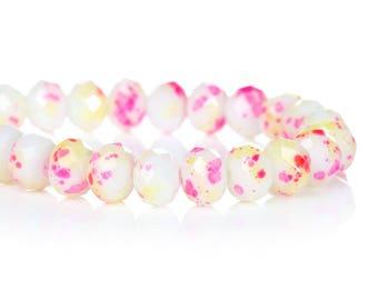 lot 5 8mm mottled glass beads
