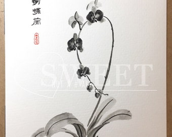 Phalaenopsis orchid - Traditional Chinese Painting