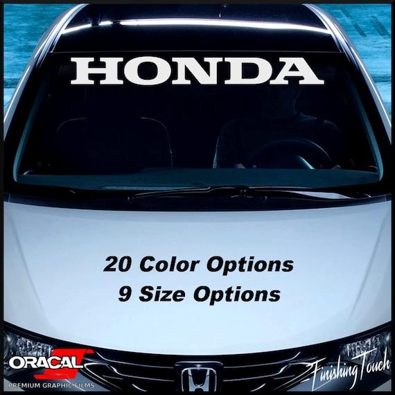 HONDA Windshield Decal Vinyl Window Sticker Car Sun Visor