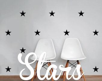 Stars Wall Decal Pack, Modern Geometric Pattern Vinyl Wall Stickers WAL-2167
