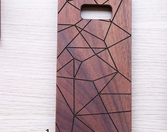 Geomatric, wood case, iPhone case, iPhone 7 case, iPhone 8 case, personalized case, gift for her, Samsung galaxy case, wood gift