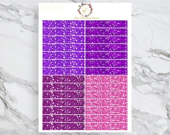 Glitter Headers, Stickers for ECLP , Decorative Stickers, Planner Stickers, functional stickers