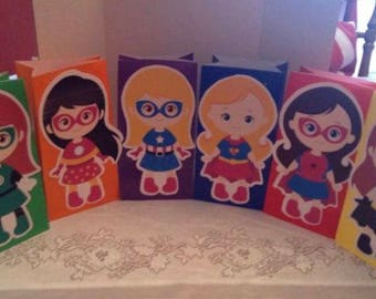 12-superhero party bags FULL BODY