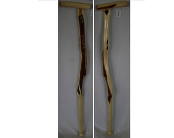 33.5 in. Wood Walking Cane with Handle, Diamond Willow Cane, Ergonomic Handle, Short Walking Stick, Hiking Stick with Handle, Made in USA