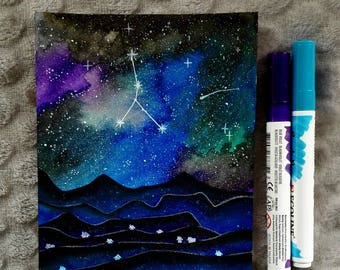 Starry night cancer constellation