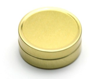 Free shipping - Empty GOLD Tin Cosmetic Pots Containers Aluminium 10ml