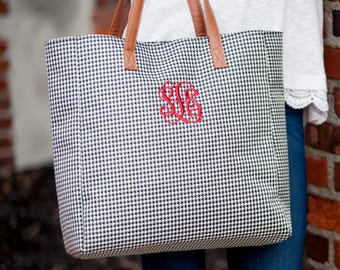 Monogrammed Tote, Game Day Tote, Personalized Tote