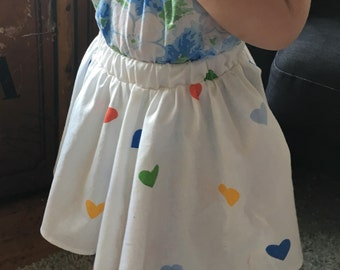 New!| Sweet as Pie Skirt| White| Hearts| Toddler