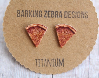 Pizza Earrings | Pizza Studs | Pizza Slice Stud Earrings | Pizza Jewelry | Food Stud Earrings | Titanium Stud Earrings | Hypoallergenic