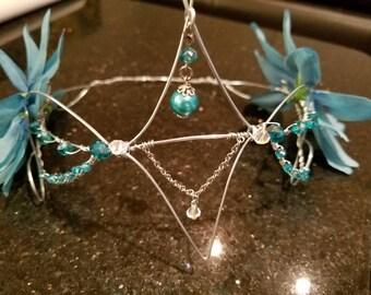 Turquoise Wire Fairy/Renaissance Crown