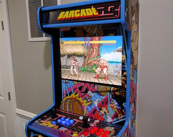 Unique Wall-Mounted Arcade cabinet. Custom Built for you. Plays all the favorites!