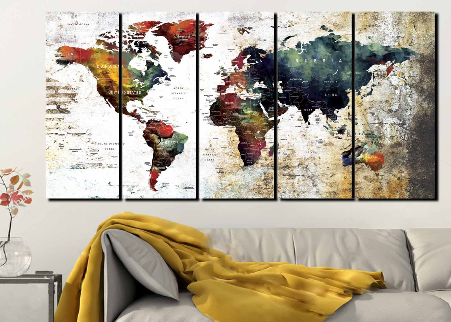 World map wall artworld map canvaslarge world mapworld map art gallery photo gallery photo gallery photo gallery photo gumiabroncs Choice Image