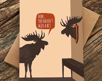 lustige Geburtstagskarte / Elch
