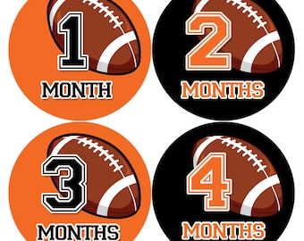 Baby Boy Monthly Baby Stickers Baby Month Stickers Football Stickers Monthly Photo Stickers Monthly Milestone Stickers 1009