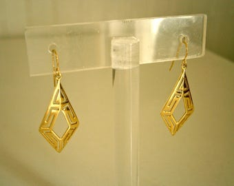 14K Gold Modern Geometric earrings
