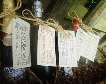 Wine From Time to Time Wine Tags- Wedding Present
