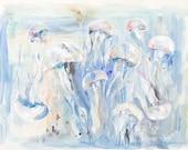 Jellyfish, 8.5x11 Signed ...