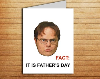 The Office Fathers Day Card Printable Funny Father's Day Gift For Dad From Daughter Son Husband Stepdad Card Dwight Schrute Michael Scott