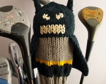 Knit PATTERN Batman Golf Club Cover PDF