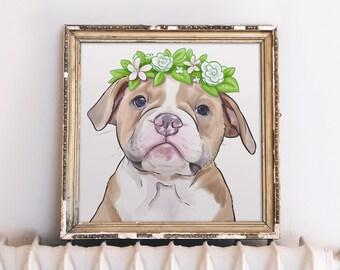 Dog Memorial Portrait, Dog Loss Gift, Loss of Dog Photo Print, Dog Sympathy Gift, Dog Bereavement Print, Dog Remembrance