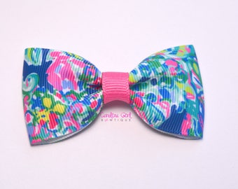 """Exotic Escapade ~ 3"""" Hair Bow Tuxedo Bow ~ Lilly Inspired ~ Simple Bow ~ Boutique Bow for Babies Toddlers ~ Girls Hair Bows"""