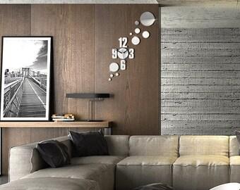 Mirror Circles Wall Clock - FREE SHIPPING