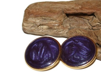 Vintage Eggplant Purple Earrings, Eggplant Purple Jewelry, Purple Earrings, Purple Jewelry, Purple Enamel Earrings, Gift for Her