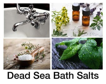 Dead Sea Bath Salts, Dead Sea Salt Bath With 100% Pure Essential Oils, Sea Salt for Bath