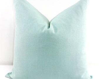 Blue Pillow Cover. Village blue Solid Pillow Cover. Sofa Pillow. Blue Sham Pillow cover. Blue Euro cover. Village blue. Select Size