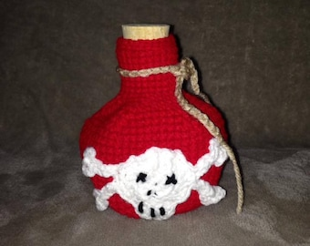 Crochet Skull and Cross-bone Potion Dice Bag