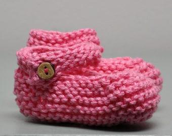 Baby-Jane Newborn Booties - pink