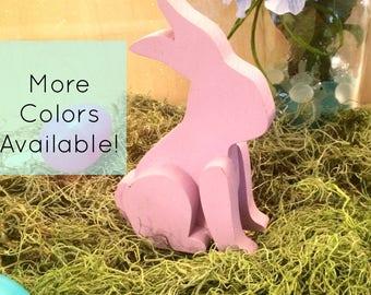 Bunny Decor - Easter Bunny - Easter Bunny Decor - Easter Decor - Wood Easter Bunny - Spring Decor - Pastel Easter Bunny - Handmade Easter De