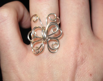Wire Wrapped Butterfly Ring MADE to ORDER