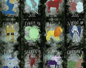 Choose your Zodiac print - 13x19