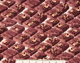 Food Fabric - In the Mix Brownies on Cream - Windham Cotton YARD
