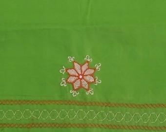Parrot green blouse piece- BLS05_GR