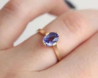 Tanzanite Ring, December Ring, December Birthstone Ring, Tanzanite Engagement Ring, Unique Engagement Ring, Gold Ring, Rose Gold Ring