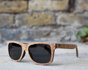 Paul Ven Fox Cork Wood wayfarer wooden sunglasses. Polarized Wood sunglasses, men women wooden sunglasses FREE EU shipping. Handmade