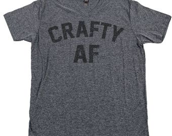 CRAFTY AF T Shirt Knit Knitting Crochet Quilt Sew Hobby Glitter Messy Artist Makers Gonna Make Art Crafter Creator Knitter Thread Needle Tee