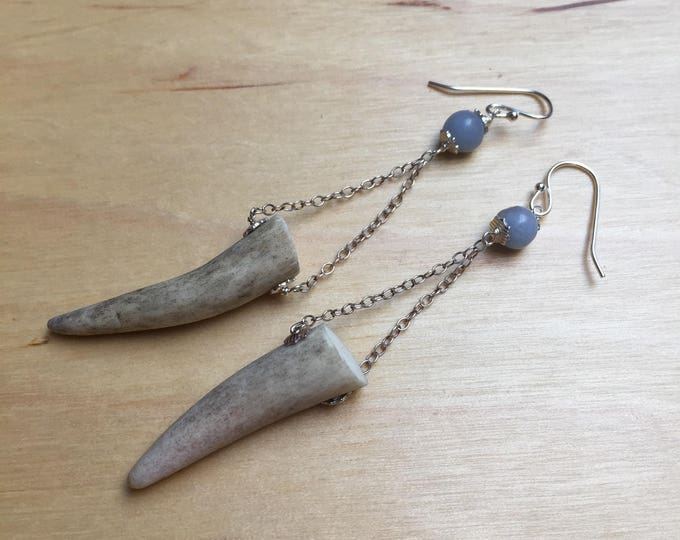 Insouciant Studios Kensie Formal Earrings Antler and Sterling Silver