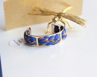 Paris Indigo gold thin cuff