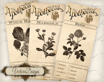 The Natural Apothecary Labels VD0711