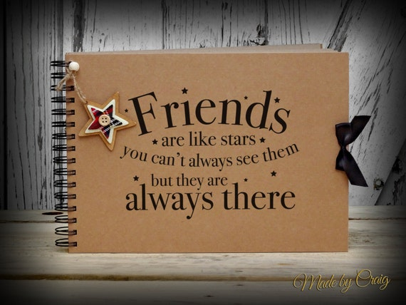 A4 Scrapbook Friends Are Like Stars Keepsake Photo Book Friendship Best Friend Christmas Birthday Gift Present Idea Album From MadeByCraig On